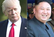 Trump and Kim collage