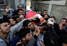 Funeral of Yasser Murtaja in Gaza