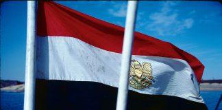 The flag of Egypt