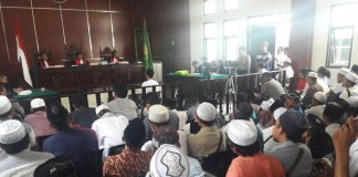 The announcement of verdict in Alnoldy Bahari's case in Indonesia