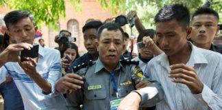 Deputy police major Moe Yan Naing