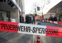 A police cordon in Germany