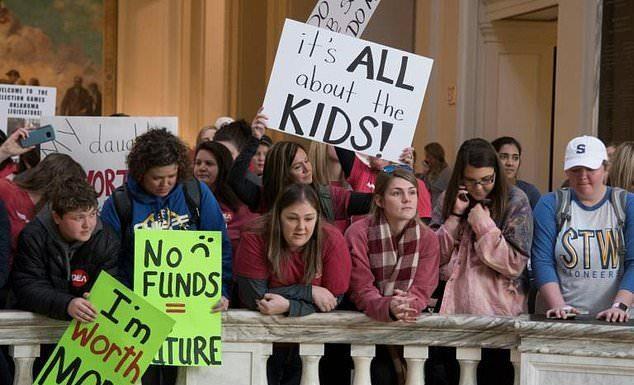 Teacher's rally in Oklahoma