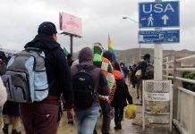 Migrants heading toward the United States