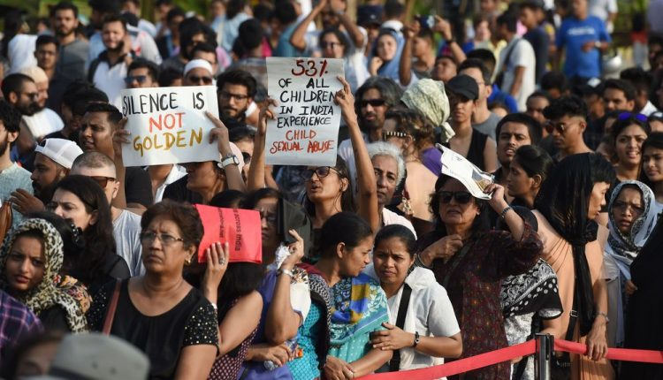 Protesters against sexual violence in India