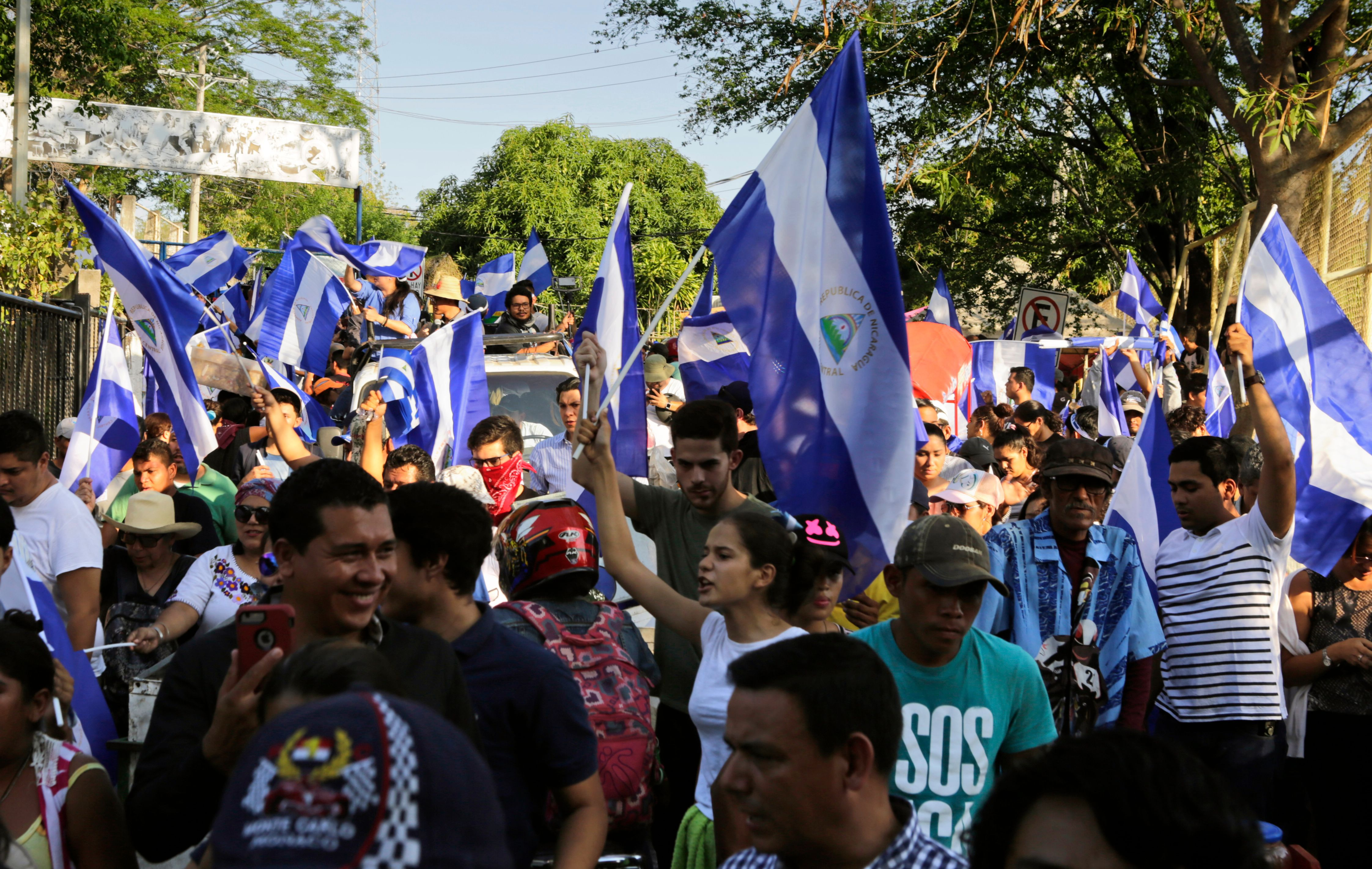 Protesters in Nicaragua