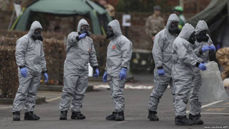 military personnel clearing novichok remnants in salisbury