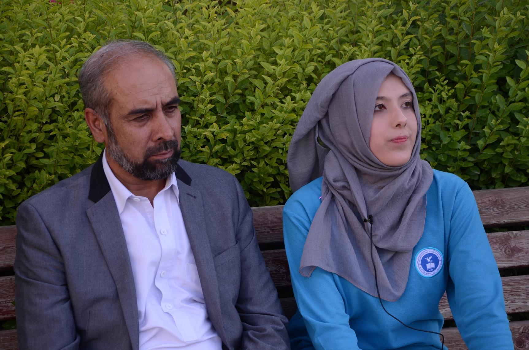 Tehmeena Painda and her father, Abdul Saboor