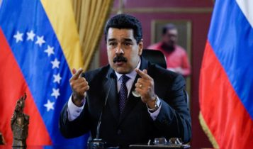 Venezuelan President Nicolas Maduro delivers a speech during in Caracas in 2016