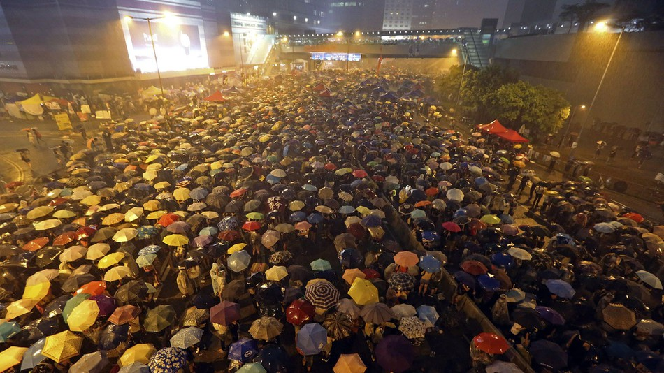 Thousands of students and civilians staged sit-in at the heart of the Hong Kong Island for 79 days during the 2014 Umbrella Movement.
