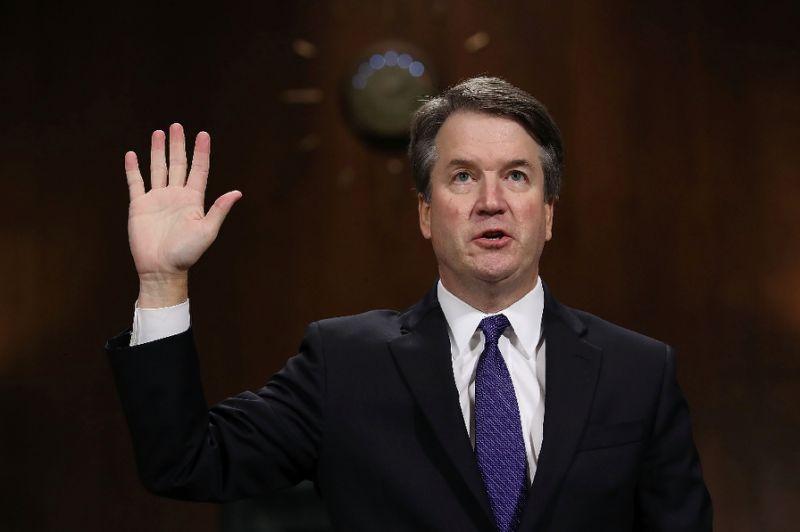 Supreme Court Justice Brett Kavanaugh testifying to the Senate Judiciary Committee