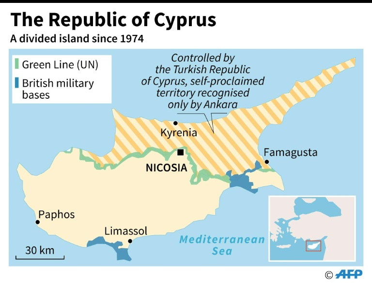 Map of Republic of Cyprus