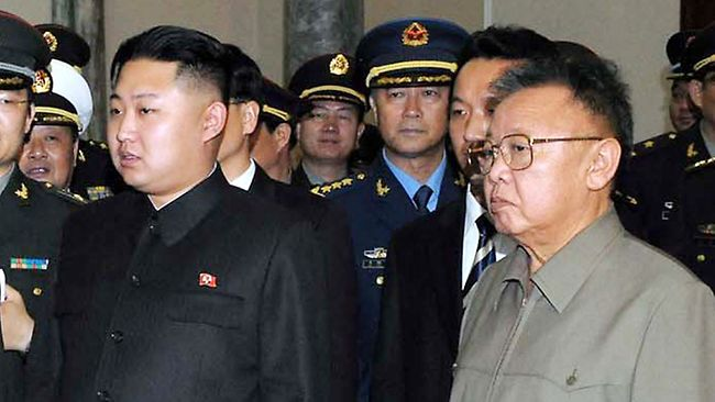 North Korean Leader Kim Jong-un and his father Kim Jong-il