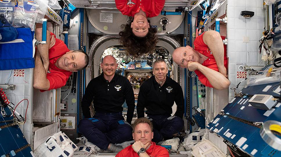the crew of the ISS