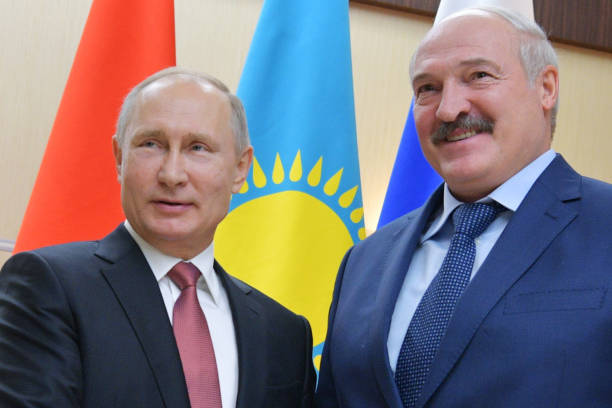 Russian President Vladimir Putin and Belarus' President Alexander Lukashenko