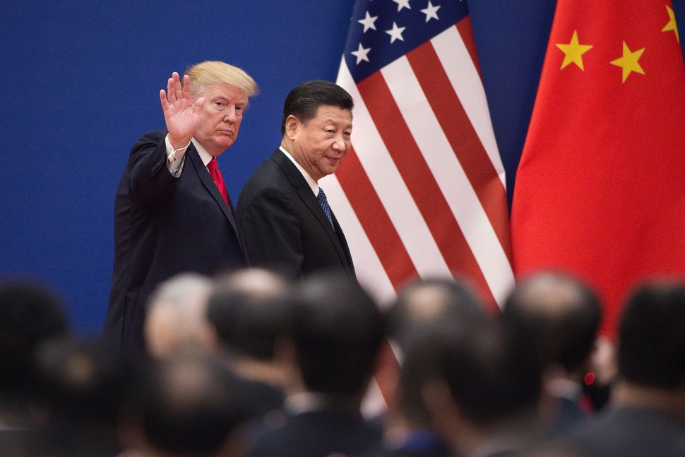 US President Donald Trump and China's President Xi Jinping in Beijing