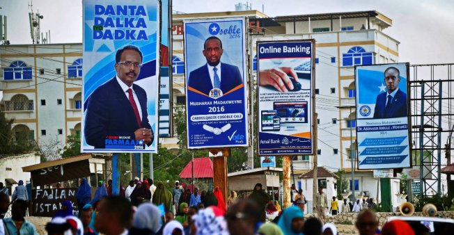 Billboards during the 2017 presidential elections in Somalia promised good governance, but the election turned out to be a milestone of corruption