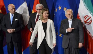 The EU's foreign policy chief Federica Mogherini and Iranian Foreign Minister Javad Zarif.