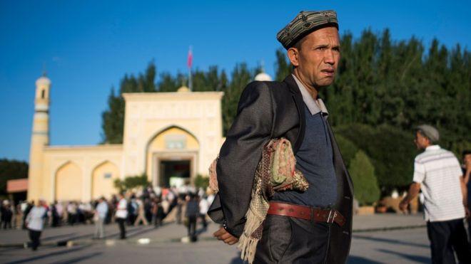 An Uighur in China's Xingjian region.