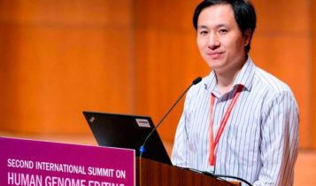 Chinese scientist He Jiankui at the Human Genome Editing summit in Hong Kong