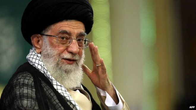 Ayatollah Ali Khamenei is Iran's spiritual leader and highest authority