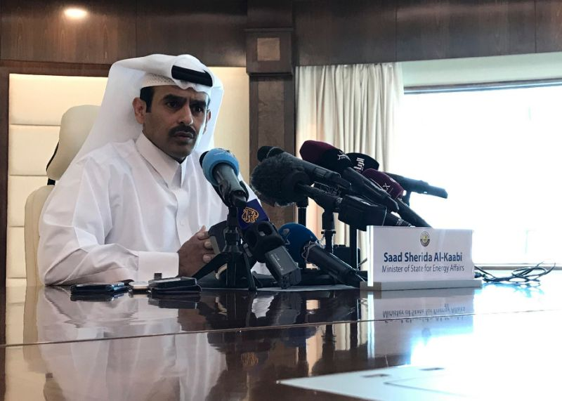 Saad Sherida Al-Kaabi, Qatari energy minister, announces during a press conference in Doha that his country will leave OPEC in January to focus on gas production