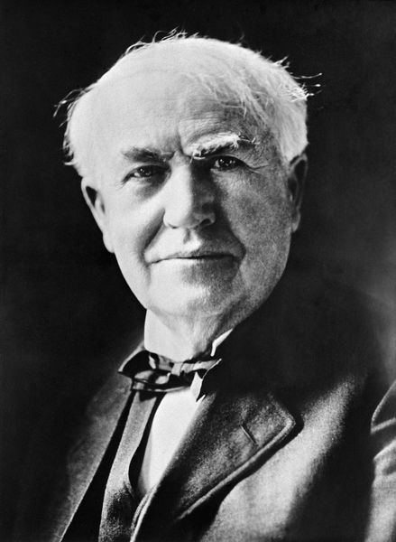 Thomas Edison (1847-1931), who invented the electric light bulb and the phonograph