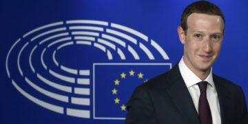 Facebook CEO Mark Zuckerberg at the European Parliament