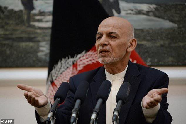Afghan president Mohammad Ashraf Ghani