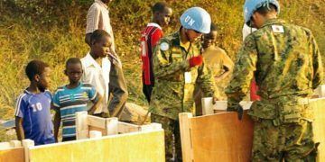 UN personnel in SOuth Sudan