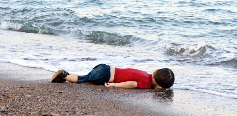 The lifeless body of three-year-old Aylan Kurdi, found on a Turkish beach, became the symbol of the refugee crisis