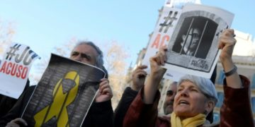 Twelve Catalan separatist politicians and activists face years behind bars for rebellion or other charges for pushing an independence referendum in 2017
