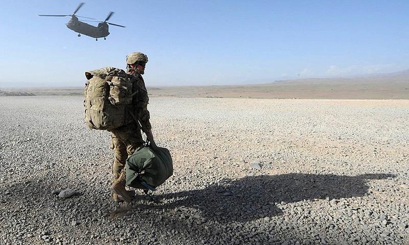 American soldier in Afghanistan.