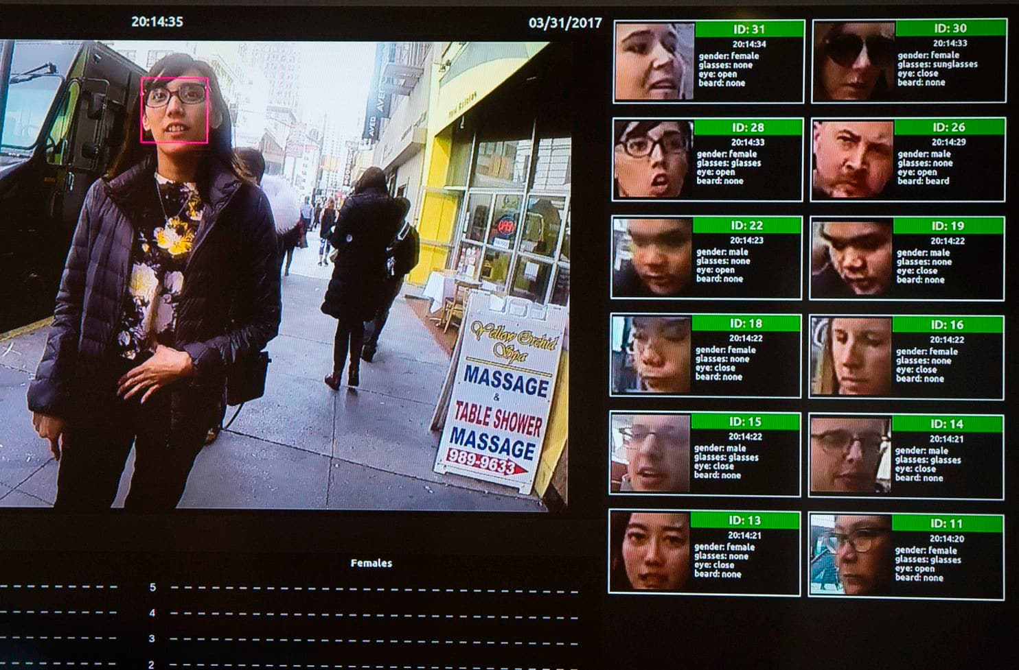 A facial-recognition system for law enforcement at a technology conference in Washington in 2017
