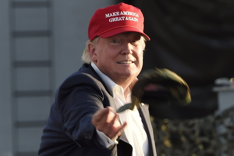 "Donald Trump has made hats embroidered with the phrase ""Make America Great Again"""