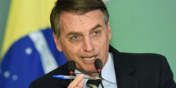 razilian President Jair Bolsonaro delivers a speech