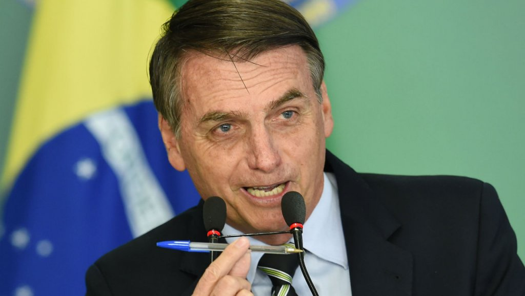 razilian President Jair Bolsonaro delivers a speech