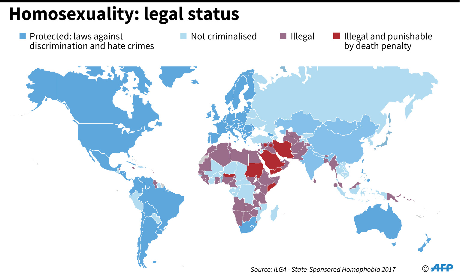 Laws on homosexuality across the world