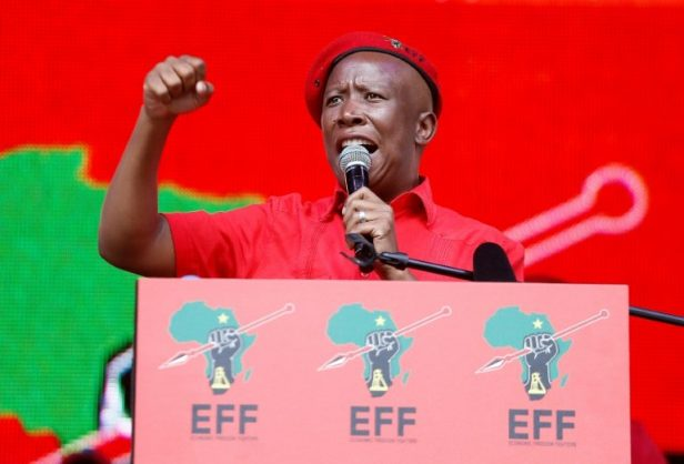 South Africa Economic Freedom Fighters (EFF) leader Julius Malema