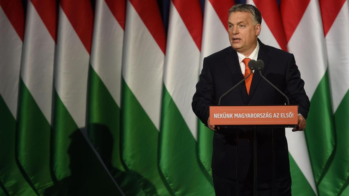 Hungary's Prime Minister Viktor Orban delivers his state of the nation