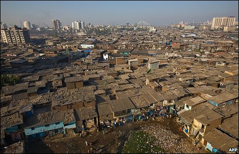 Between 700,000 and one million people cram into tiny homes in Dharavi