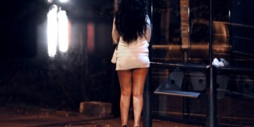 Prostitute near the Matabiau railway station in Toulouse, southwestern France