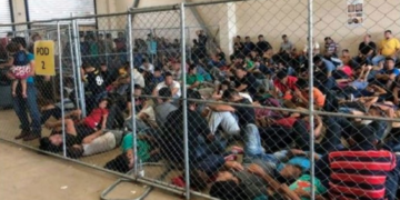 migrants at a US detention center