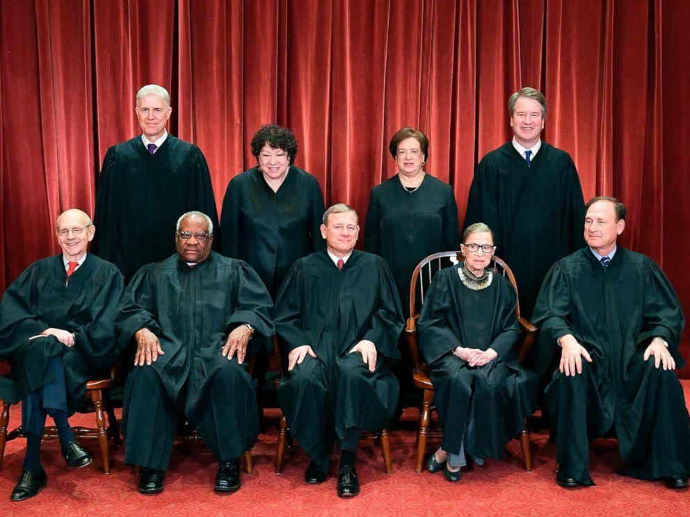 Justices of the U.S. Supreme Court pose for their official photo at the Supreme Court in Washington, D.C., Nov. 30, 2018