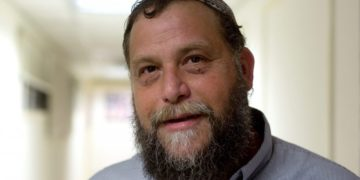 Benzi Gopstein of the extreme-right Israeli Jewish Power party.
