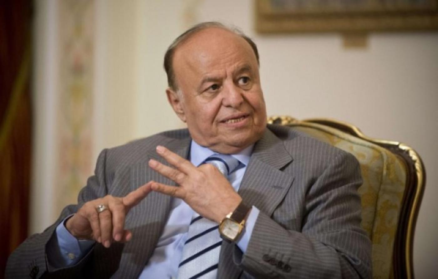 Yemen's President Abd Rabbu Mansur Hadi