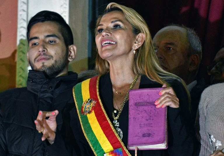 Right-wing Bolivian Senator Jeanine Anez declared herself interim president following a coup that ousted Evo Morales