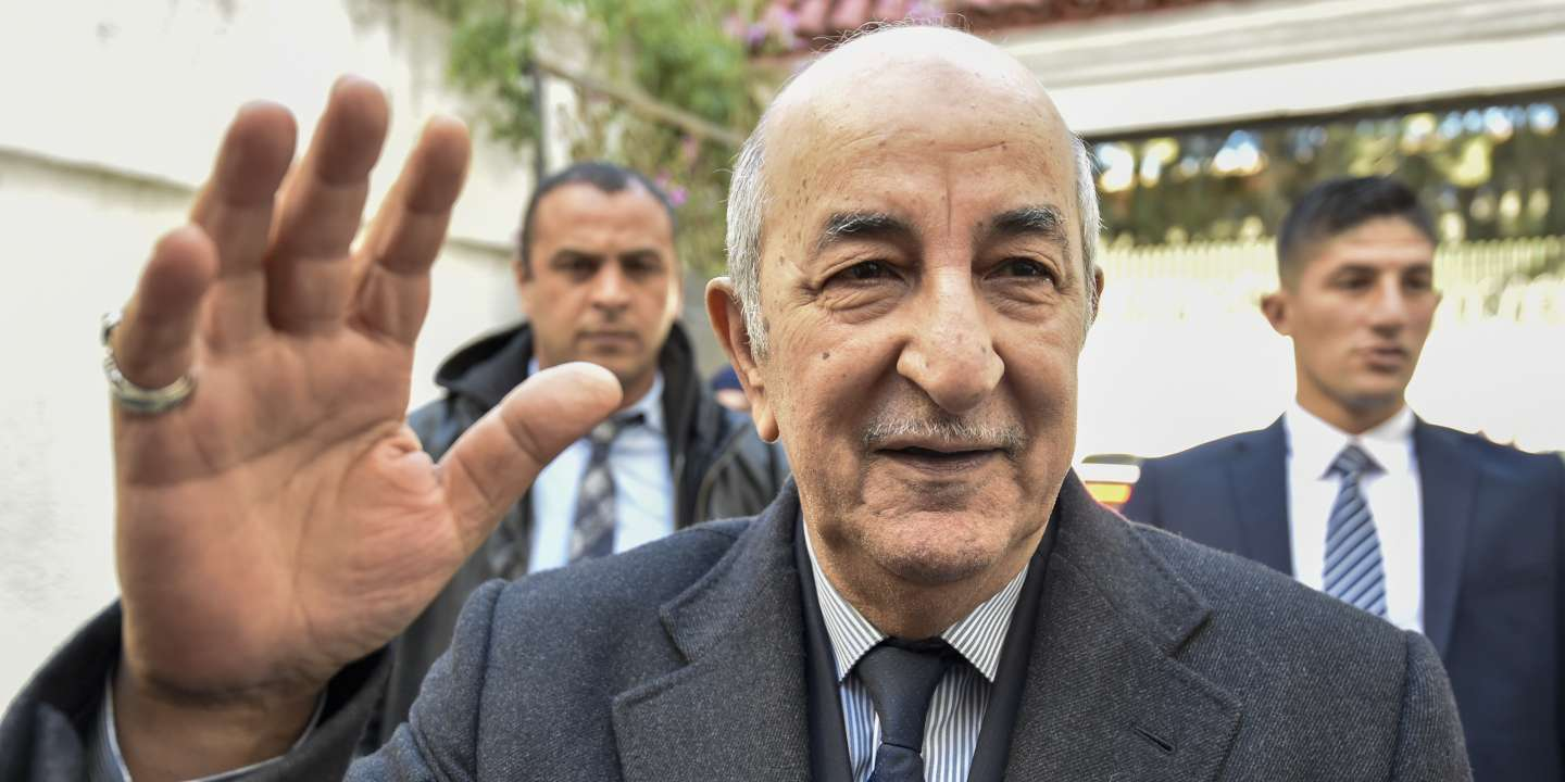 Former Prime Minister Abdelmadjid Tebboune during the election campaign in Algiers on November 24, 2019