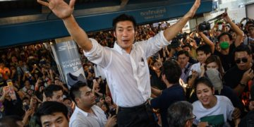 Thai politician and leader of the opposition Future Forward Party Thanathorn Juangroongruangkit speaks to supporters at a rally in Bangkok on Dec 14, 2019