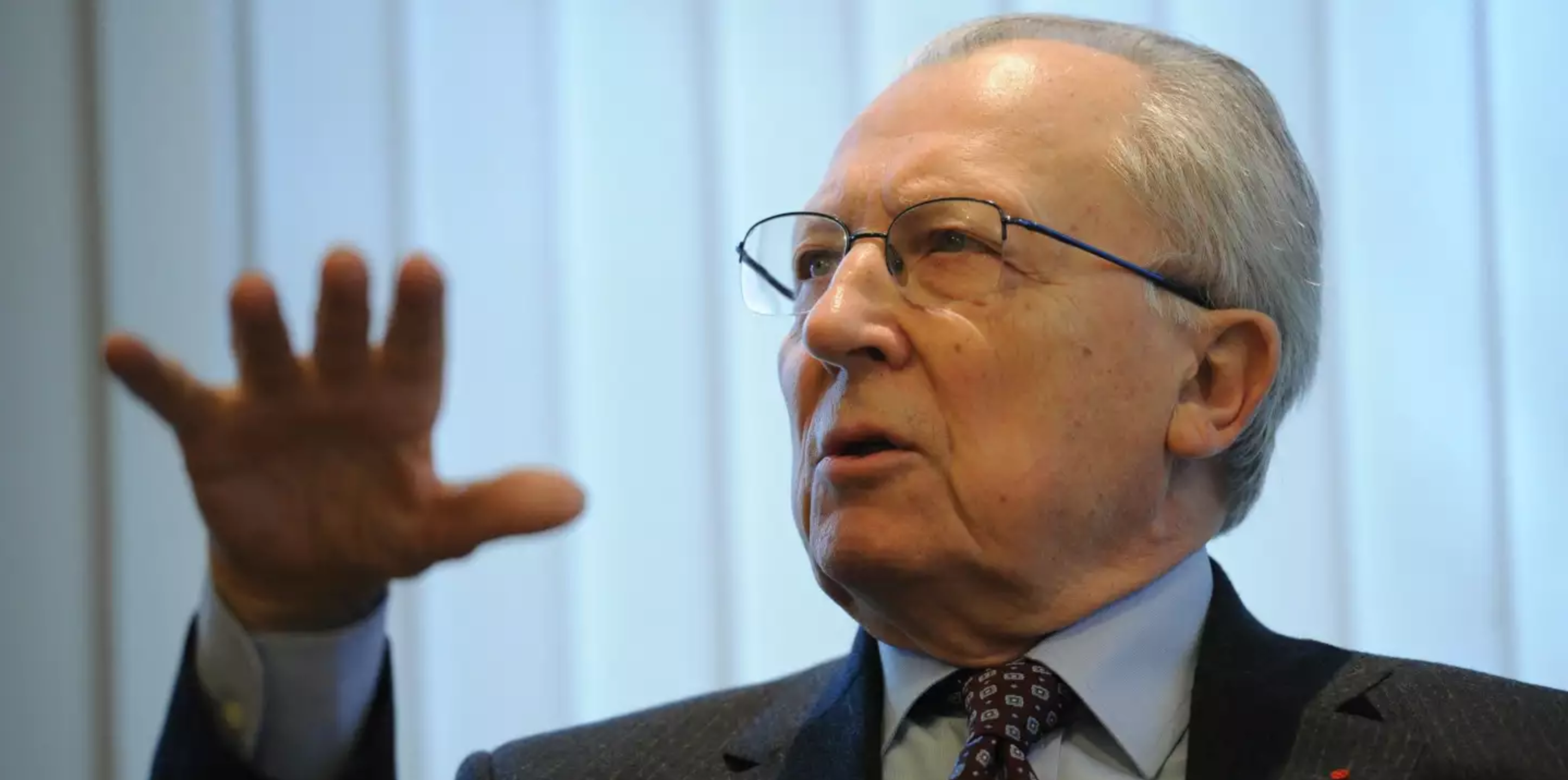Former European Commission President Jacques Delors